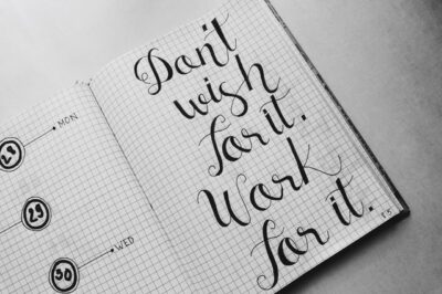 Don't Wish It, Work For It Quote